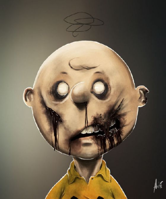 Character Drawings Portraits And Monsters: Zombified Creepy Cartoons