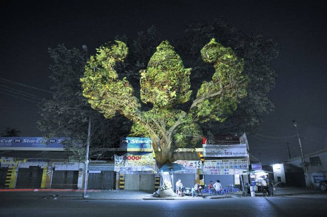 Light Projection Art