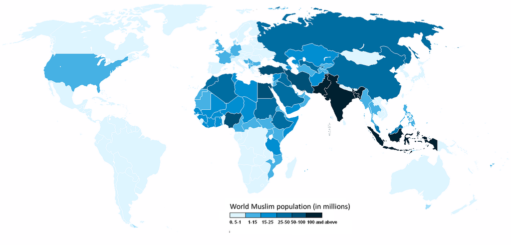 List Of Countries By Muslim Population Percentage XciteFunnet - World population list by religion