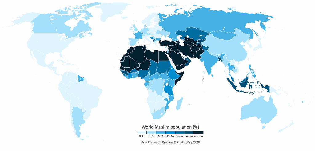 List Of Countries By Muslim Population Percentage ...