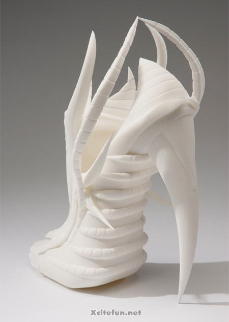 Unusual High Heel 3D Printed Shoes By Janina Alleyne
