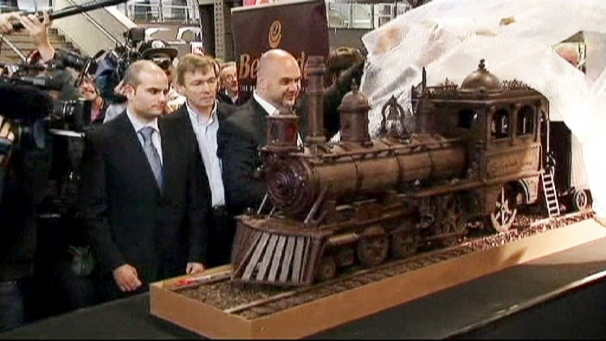 World Longest Chocolate Train Sculpture