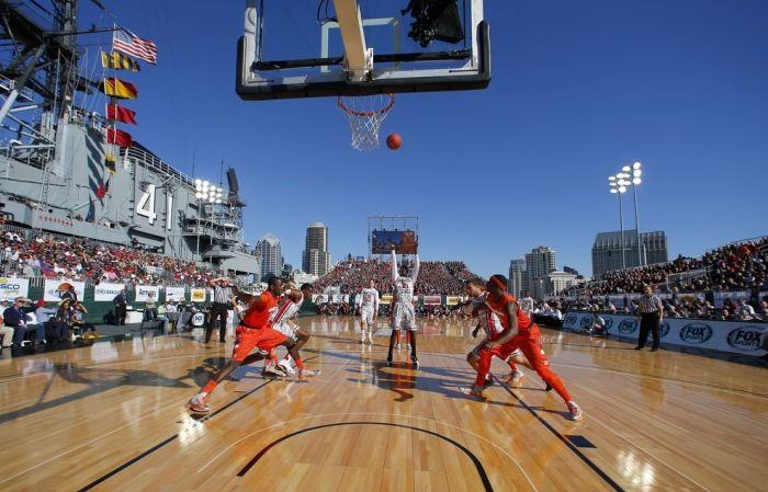 Aircraft carrier basketball game