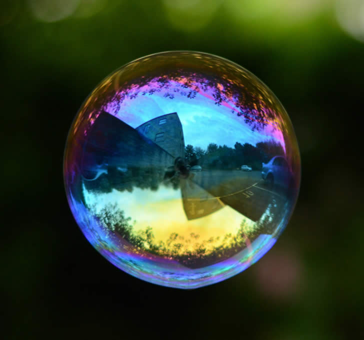 Reflection Of Bubbles