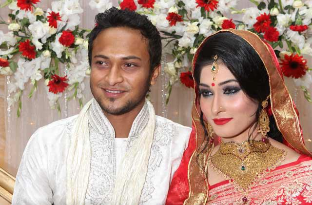 Shakib Al Hasan Wedding Pictures with Wife