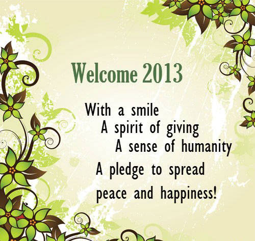 sms of new year 2013