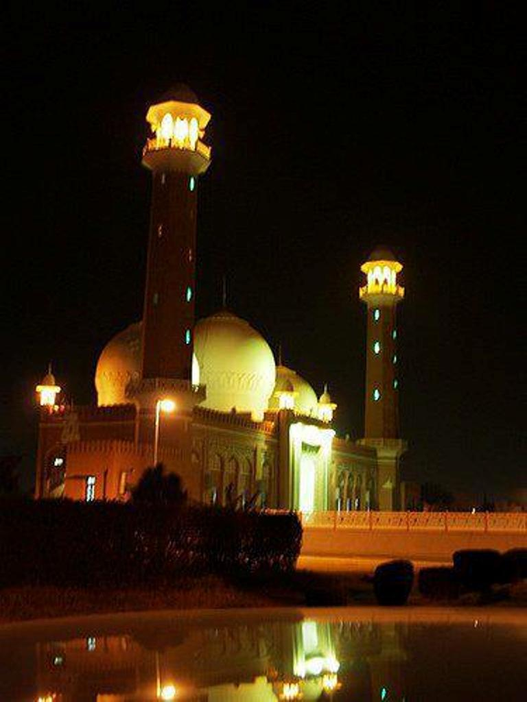 Markazi Jamia Masjid Wah Cantt Night View