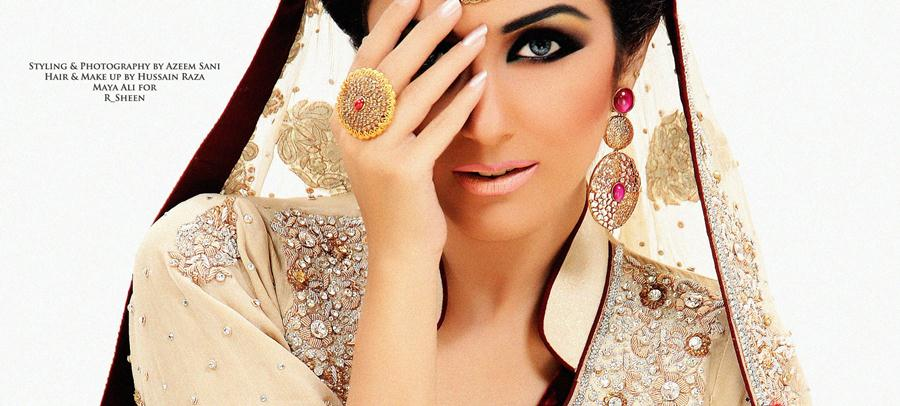 Bridal Pearl Work Collection By RSheen With Maya Ali