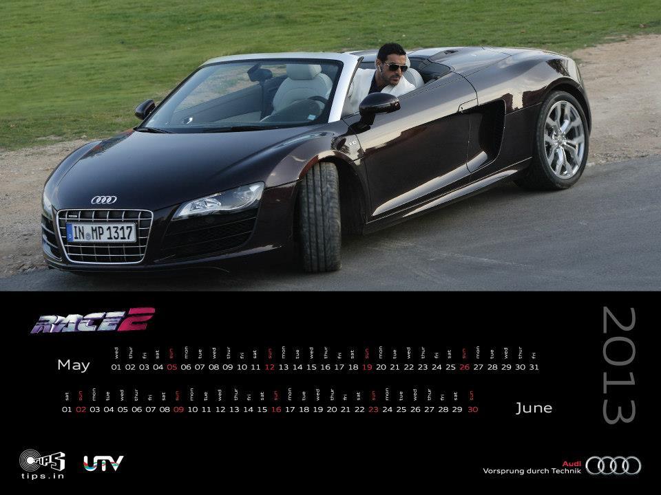 Audi India Calendar 2013 with Race 2 Stars