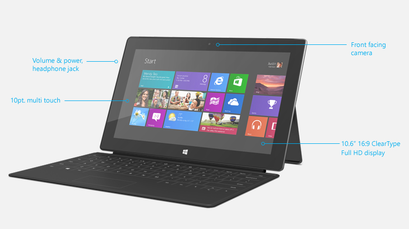 Microsoft Surface Pro Tablet Key Features