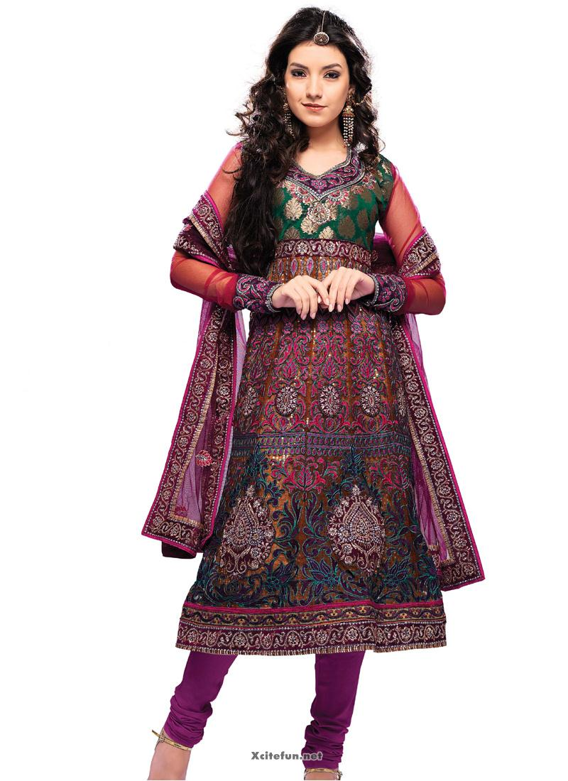 Anarkali Frock For Girls 2013