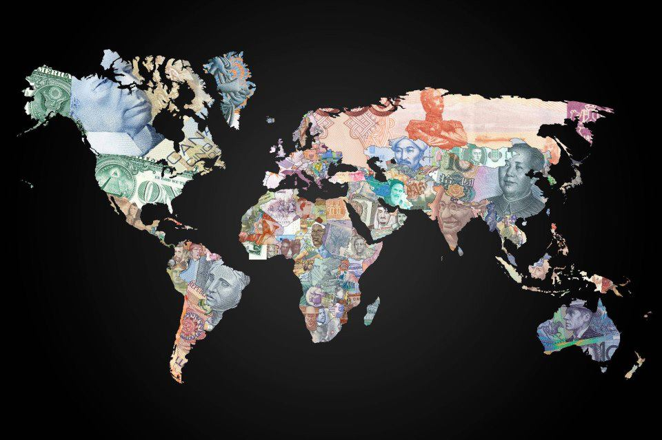 Currency Map of World