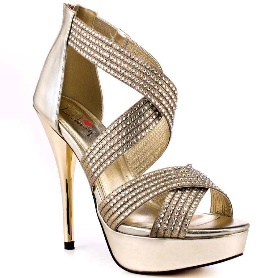 High Heel Golden Sandals For Girls  XciteFunnet - Latest Flat Sandals For Girls With Price