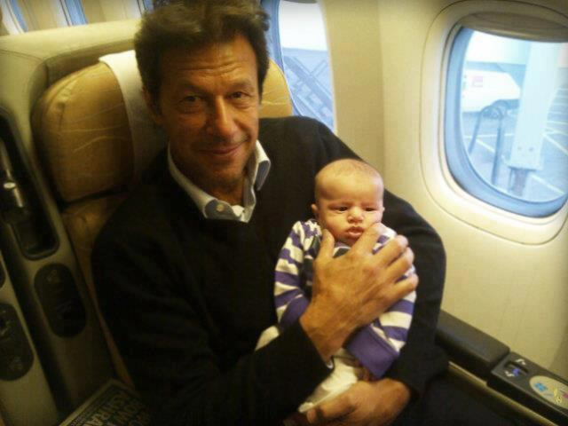 Imran Khan on a PIA flight
