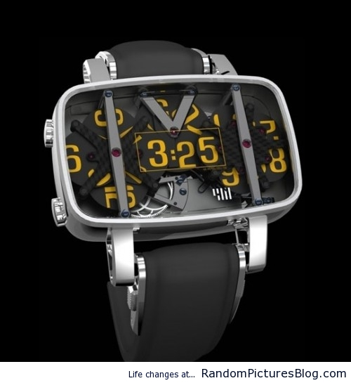 Analog Watch Digital Time