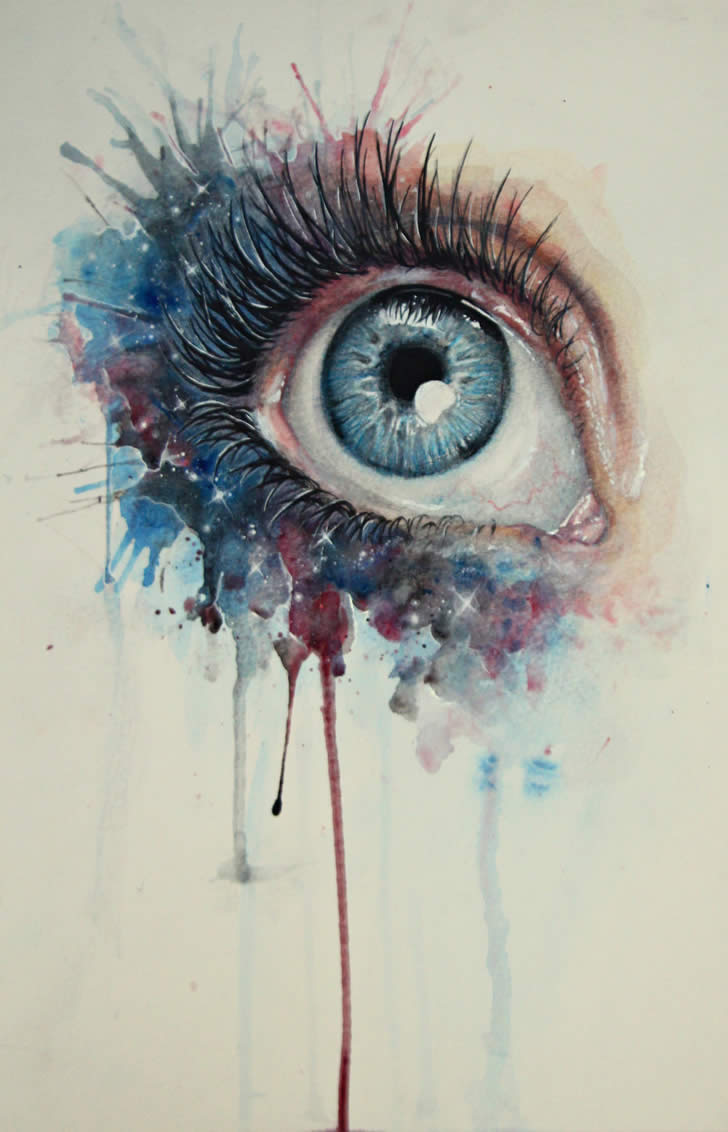 Eye Art Design : Incredible strange paintings xcitefun