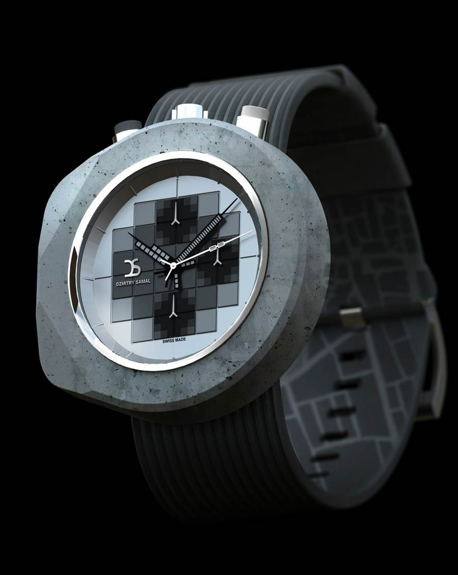 Concrete Case Watch Collection By Dzmitry Samal