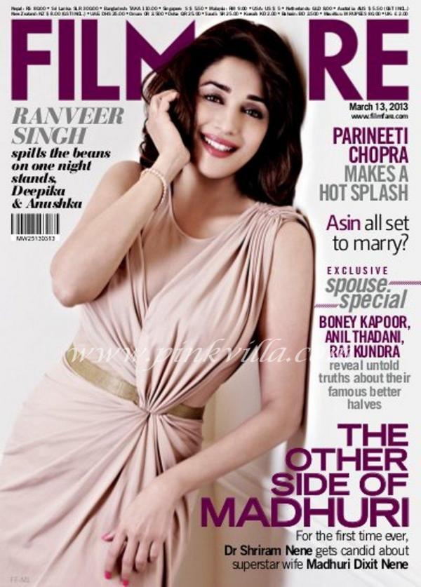 Madhuri Dixit Filmfare Magazine