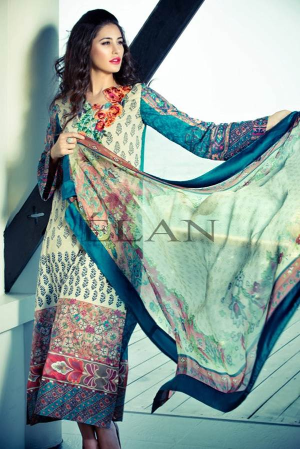 Nargis Fakhri Fashion Photo Shoot For Elan Lawn Pakistan