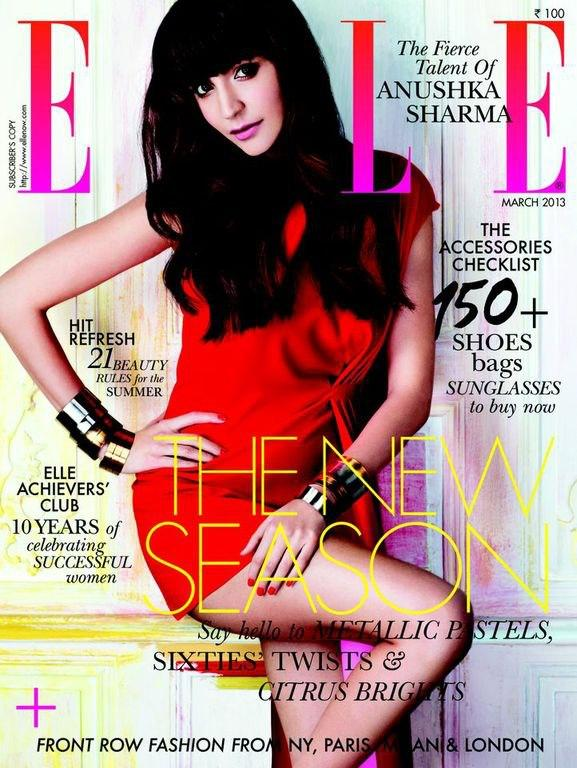 Anushka Sharma Elle Magazine Cover