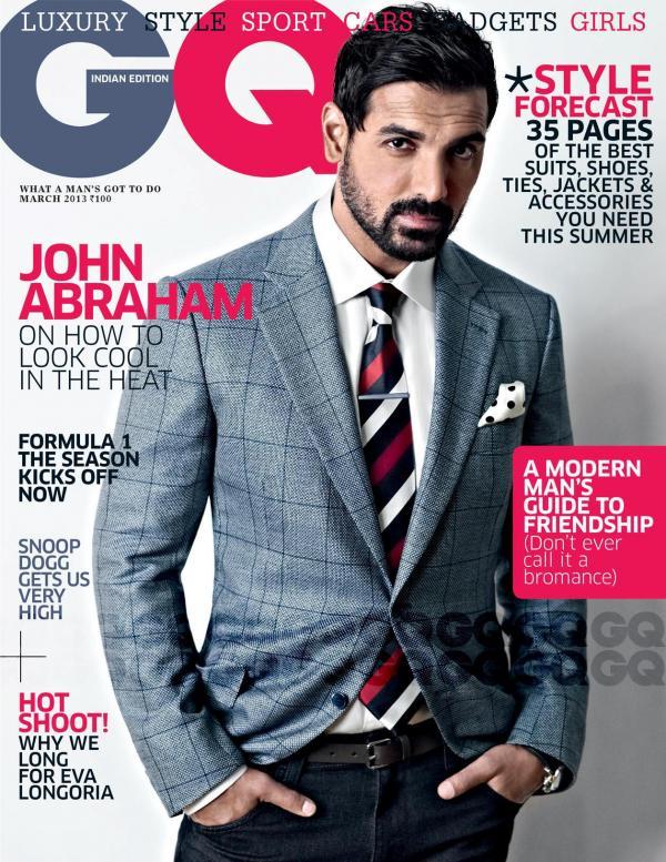 John Abraham GQ Magazine Cover