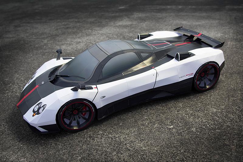 Pagani Zonda Paper Version Super Craft Cars Xcitefun Net