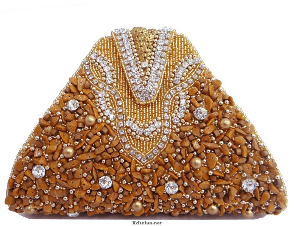 Precious Stone Beaded Bridal Clutch