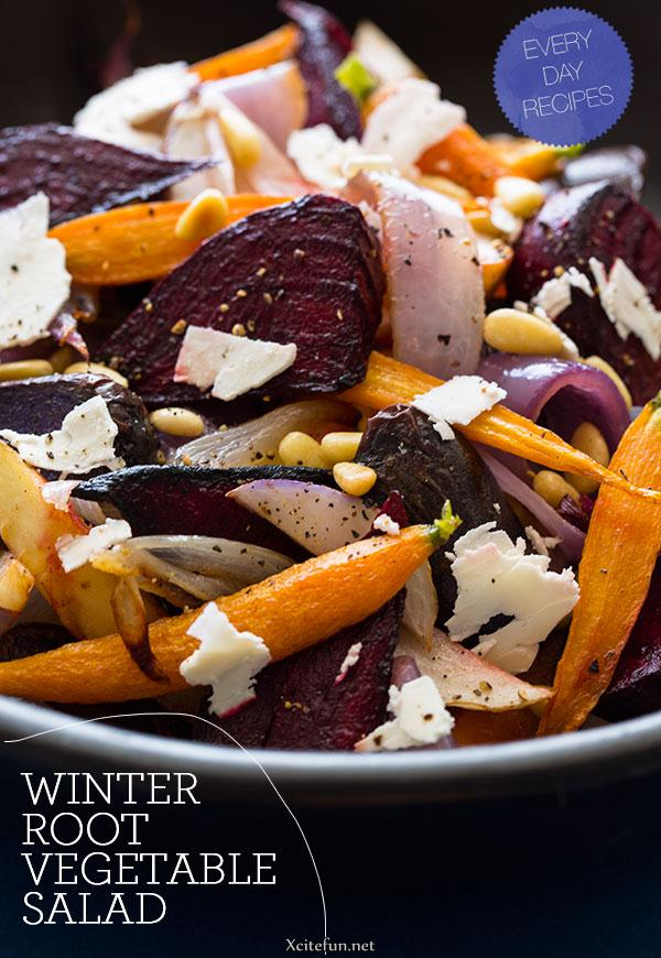 recipe roasted winter root vegetable salad serves 4 to 6