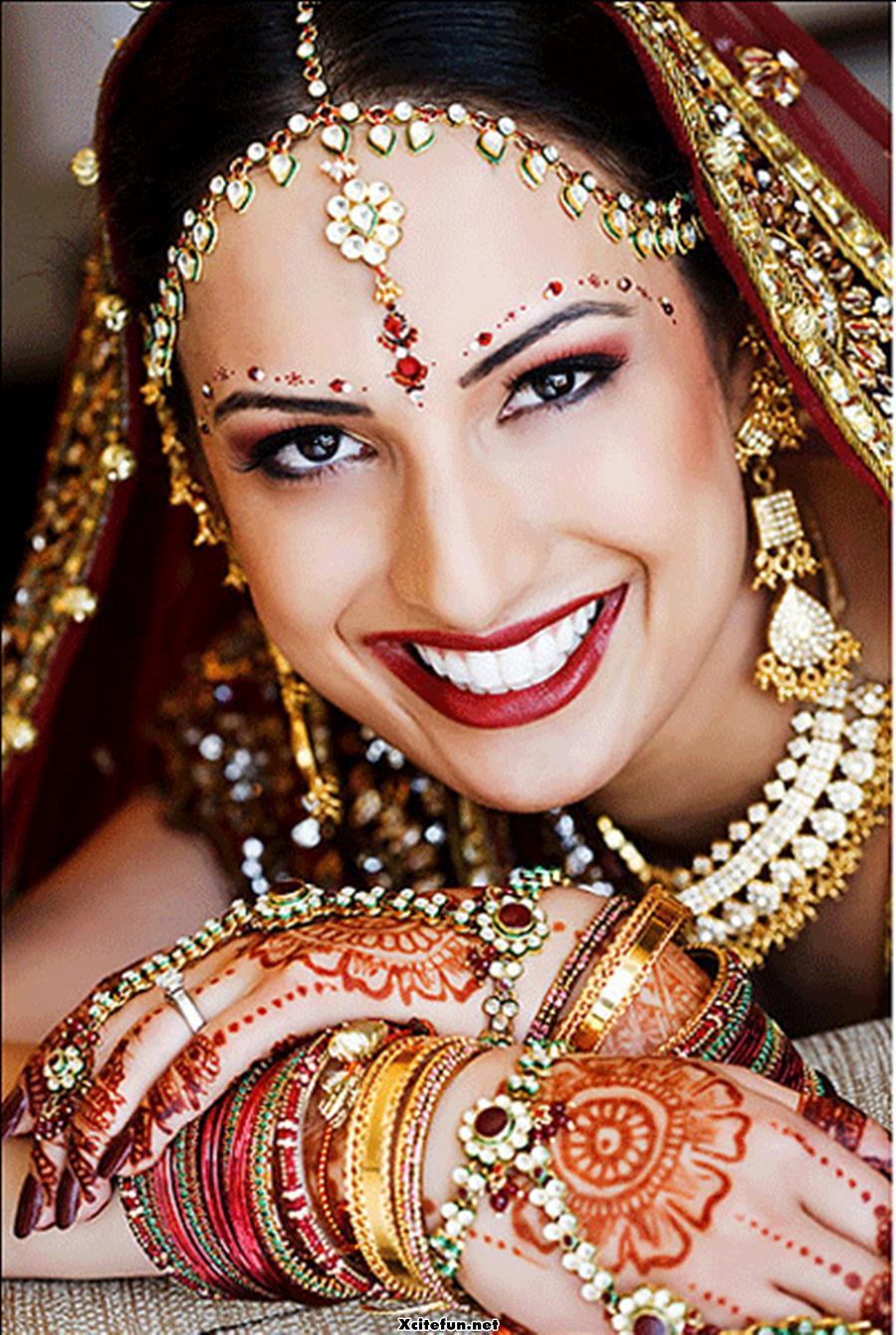 Bridal Tikka Mehndi : Bridal makeup jewelry and lehnga choli xcitefun