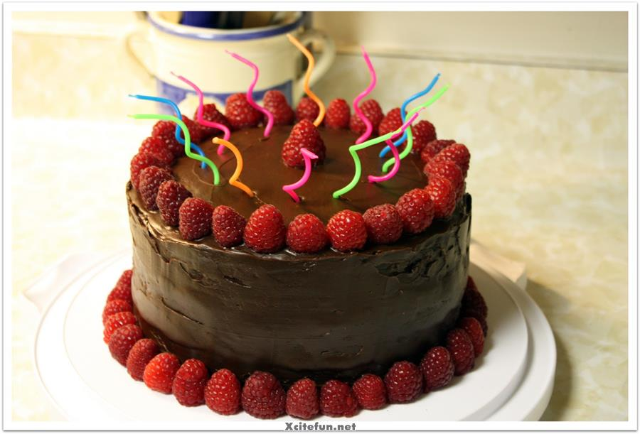 Celebrate Birthday With Chocolate Cake