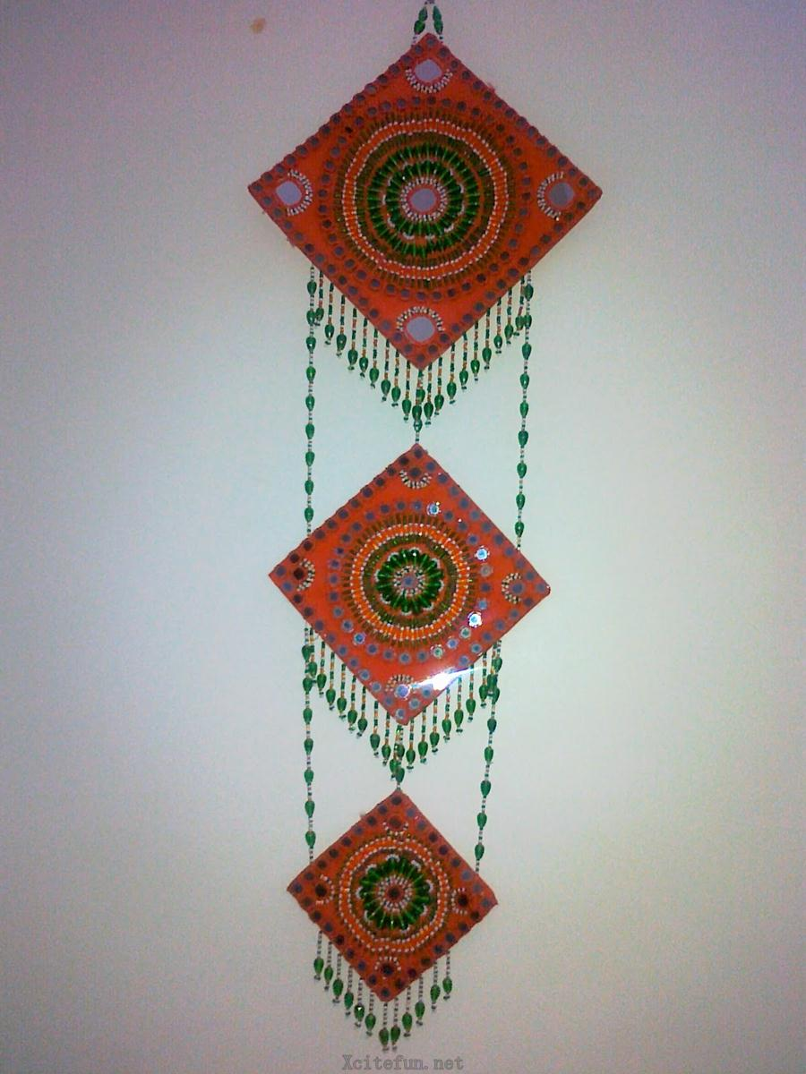 colorful handmade creative wall hanging