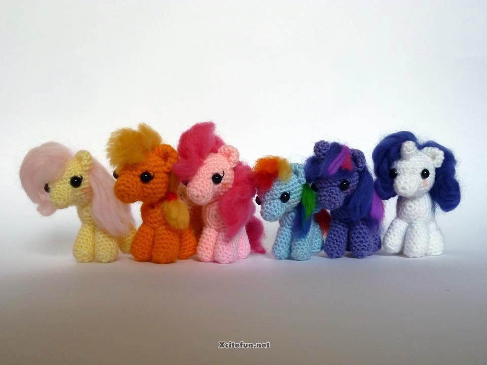 Amigurumi Mini Pony : Knitting And Crochet Beautiful Yarn Art - XciteFun.net