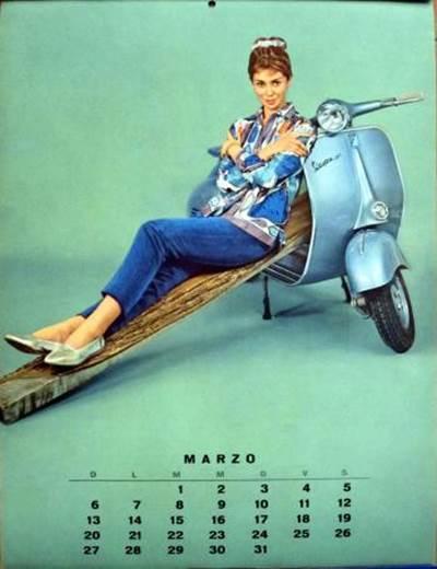Vespa Love 1960 Calendar