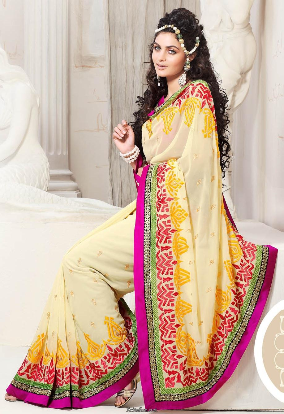 Indian Bridal Party Wear Sarees For Girls Xcitefun Net