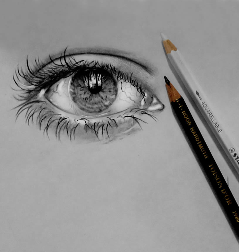 Pencil Drawn Crying Eyes Crying Eye Drawing Pencil