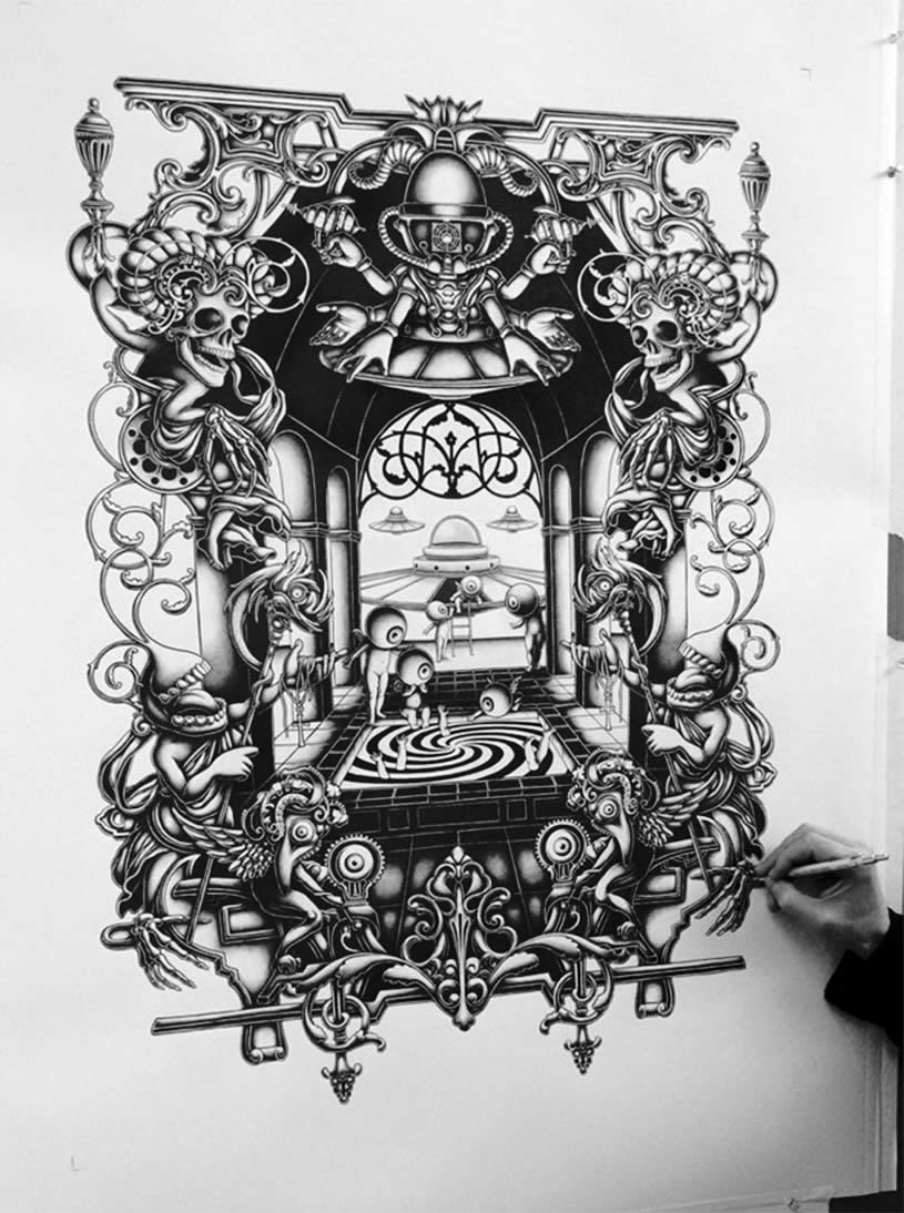 amazing complex drawing