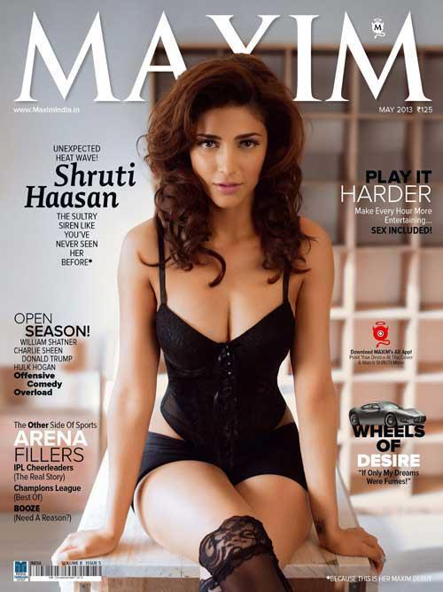 Shruti Hassan Maxim Cover