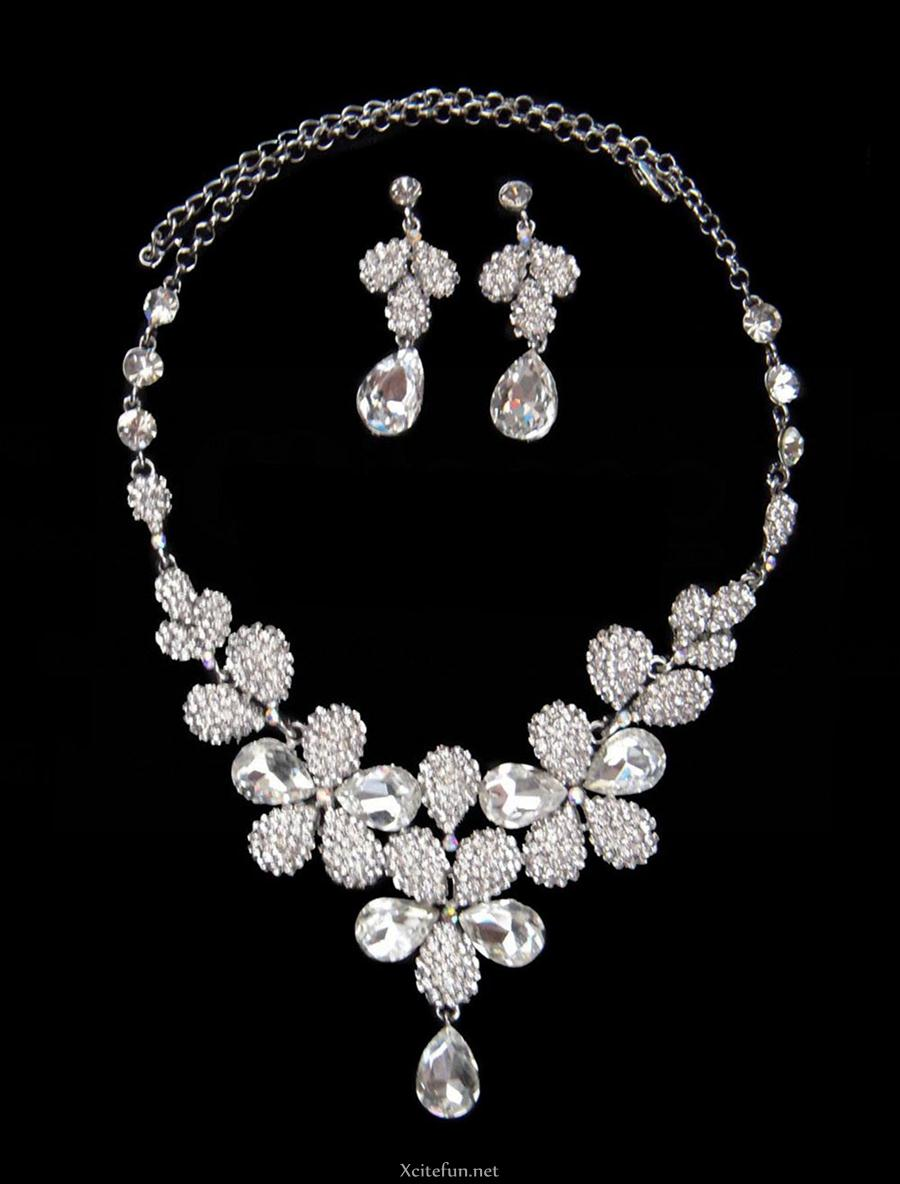 Diamond Precious Bridal Jewelry Set