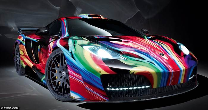 Painted Sports Cars Xcitefun Net
