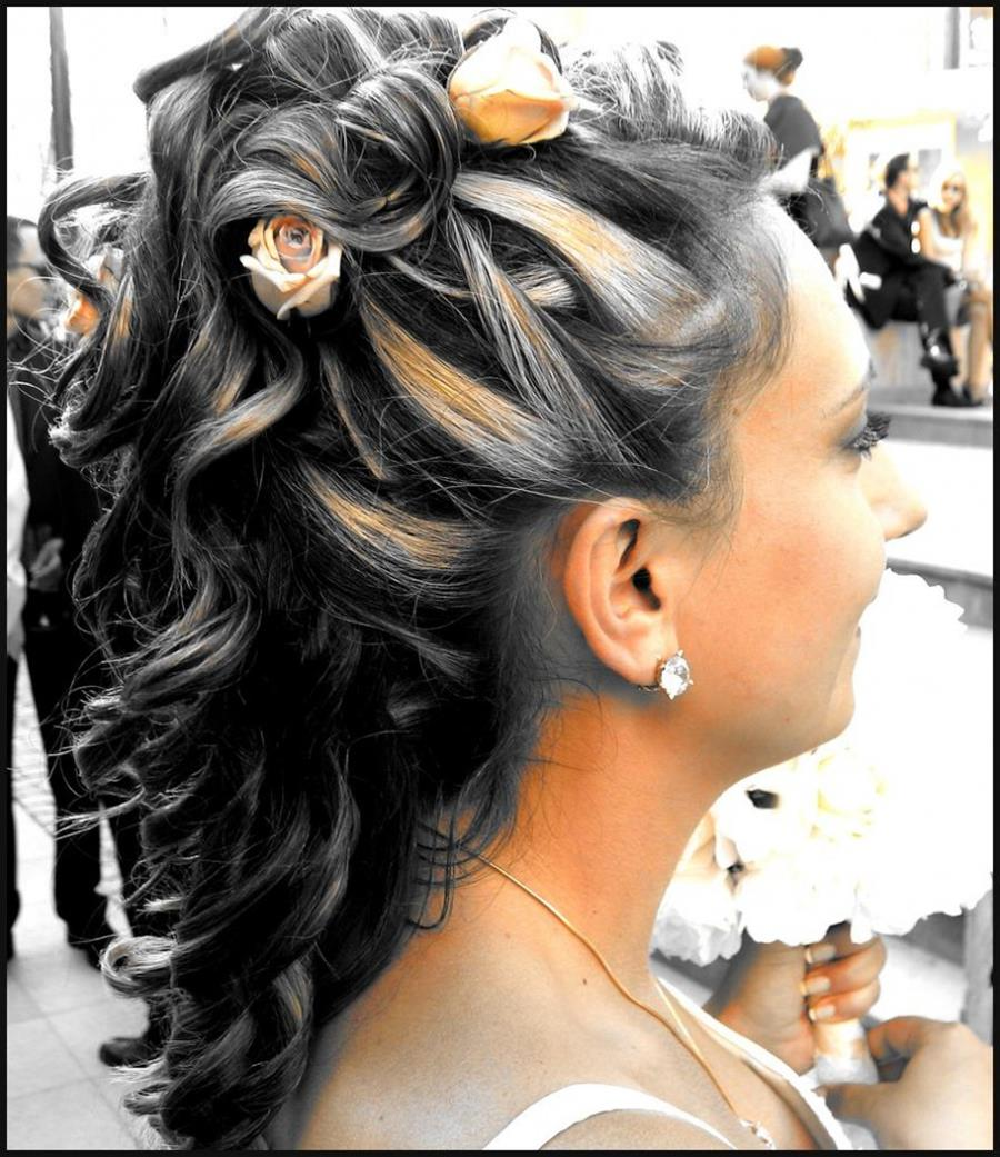Wedding Day Unique Knot Tail Hairstyle