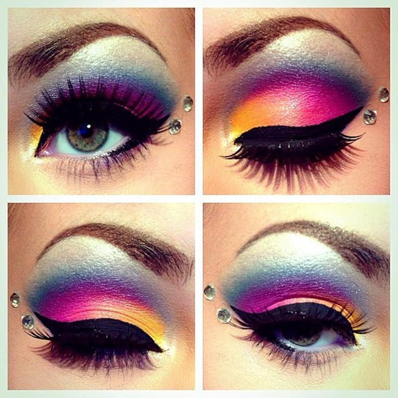 Как сделать в макияже яркие глаза 707