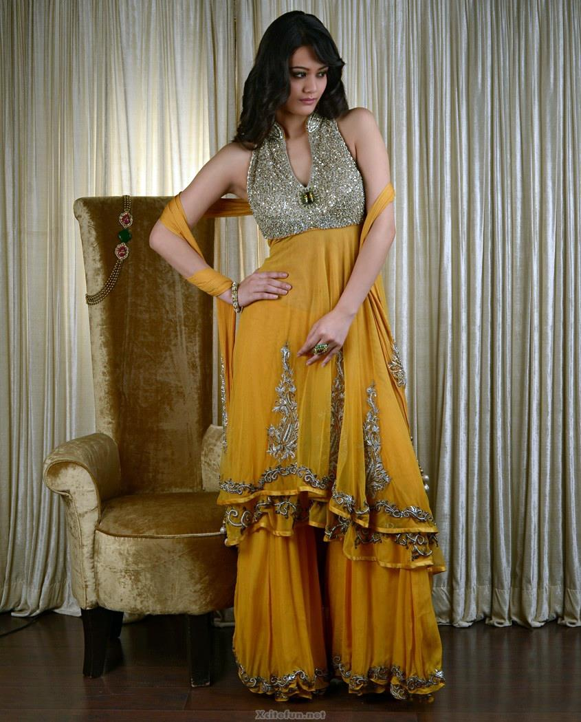Ladies Mehndi Party : Party wear qlot trousers and shirts collection xcitefun