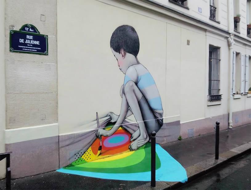 3D Wall Graffiti Painting