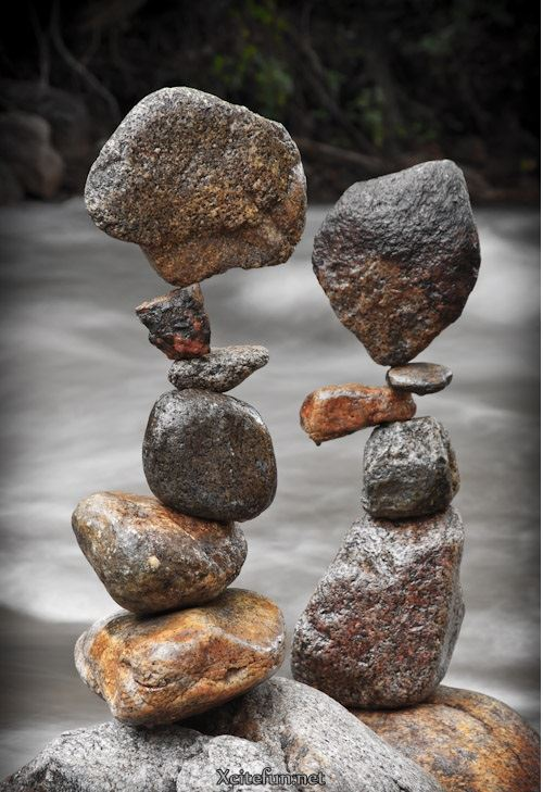 Sculptures From Stones Land Art