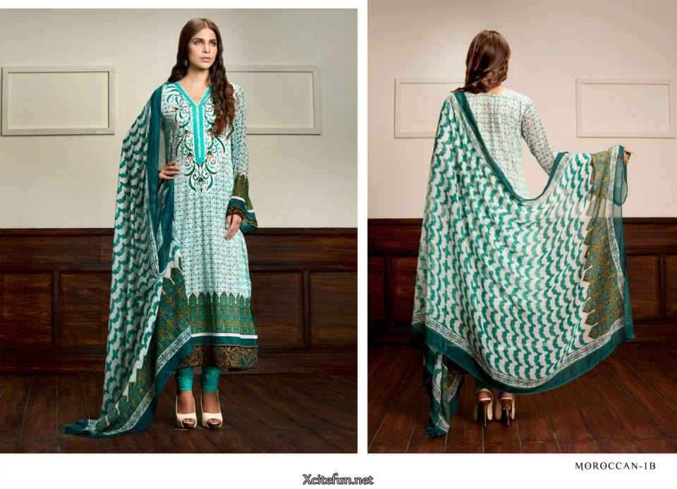 Long Shirt And Trouser Summer Wear  Zaheer Abbas Lawn Collec