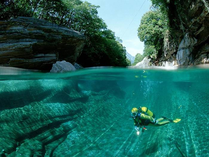 Verzasca River Switzerland