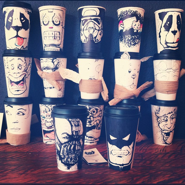 Coffee Mugs Drawing Drawing And Art on Coffee Cups