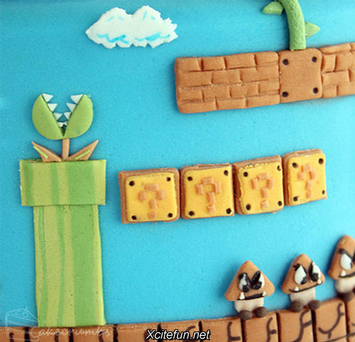 Beautiful Super Mario Cake