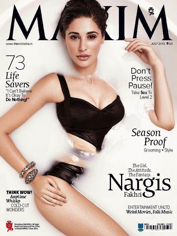 Nargis Fakhri Maxim Cover