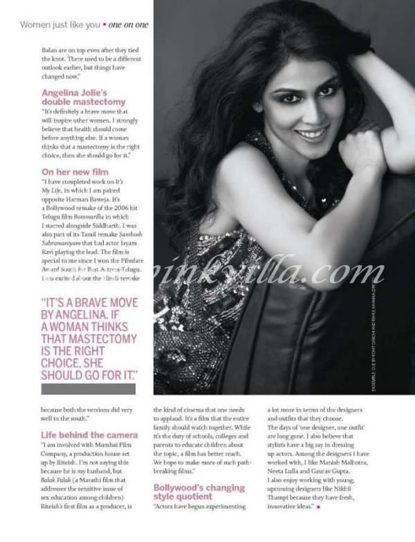 Genelia Femina Cover Shoot
